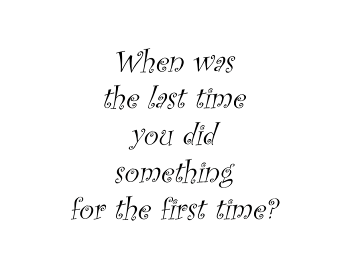 when was first time