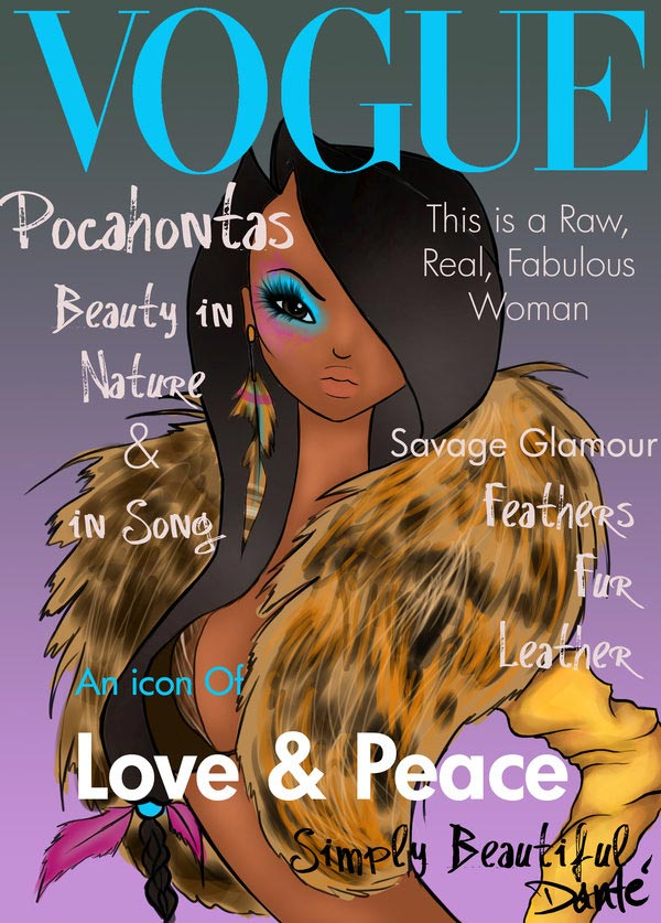 princesas-disney-vogue pocahontas
