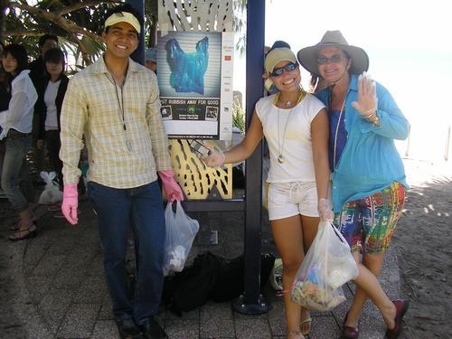 Olha eu ai no meu primeiro Clean Up Day na Australia <3