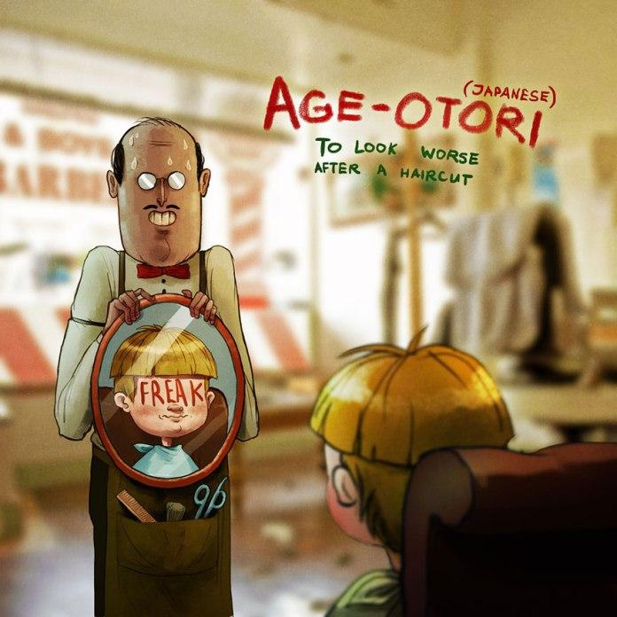 Age-Otori, do Japonês: Quando você fica pior do que estava antes de cortar o cabelo.