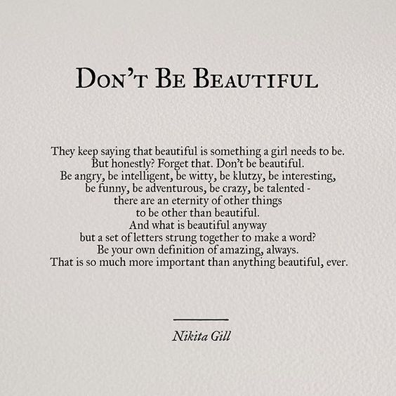 dontbebeauty